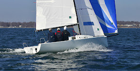 J/70 sailing off Newport, RI