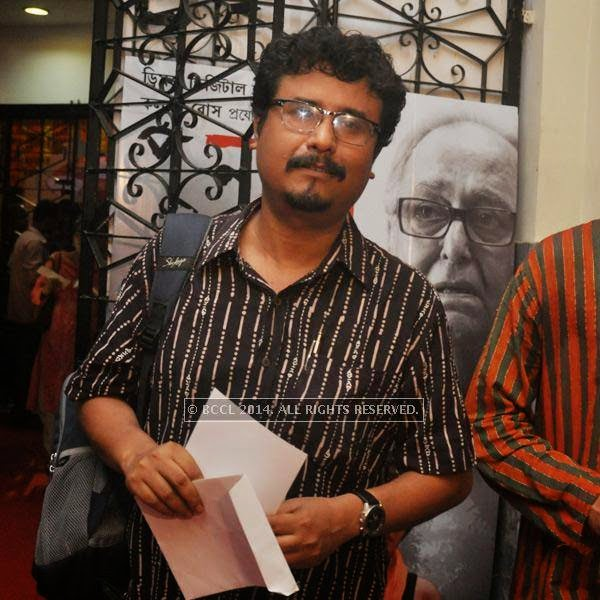Indranil Roychowdhury during premiere of Bengali movie Sada Canvas held in Kolkata.