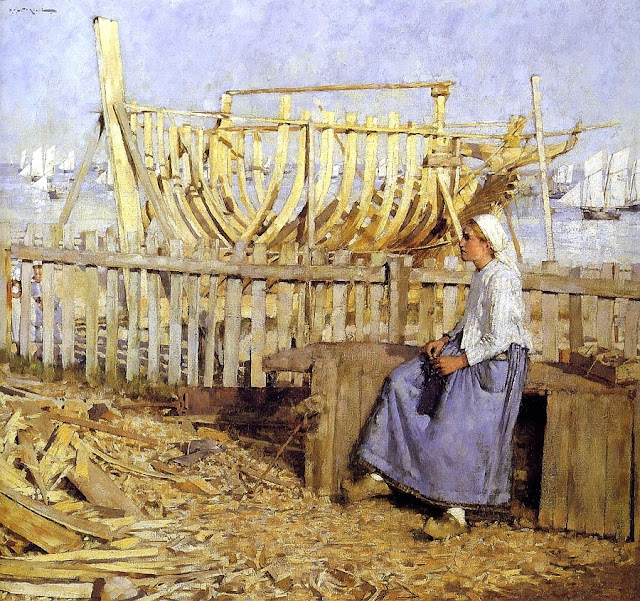 Henry Herbert La Thangue - Boat Builder's Yard 1881