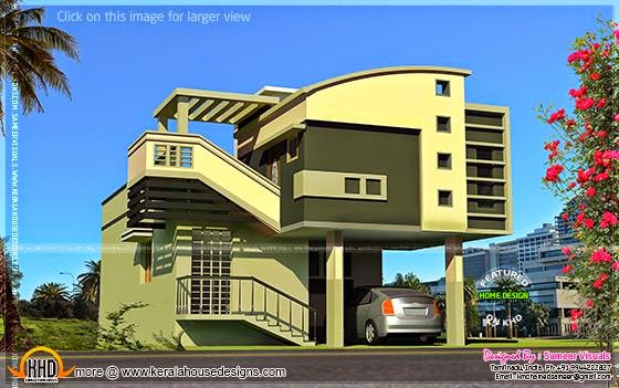 Mezzanine style house