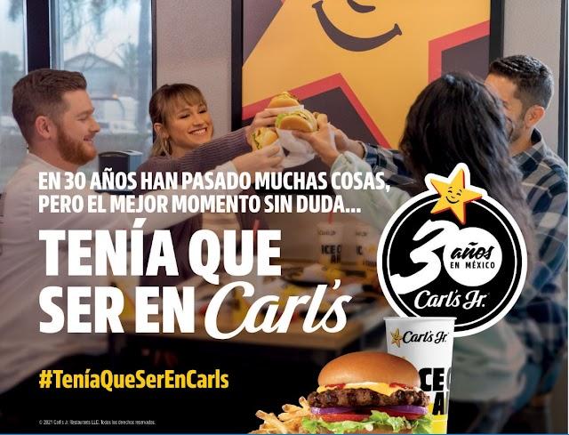 ¡¡CARL'S JR. CELEBRA 30 AÑOS EN MÉXICO!!