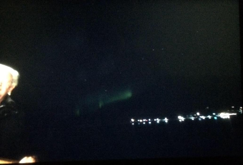 Northern Lights at Qaqortoq, Greenland, aboard the Viking Sea (Source: Palmia Observatory)