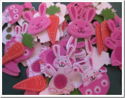 Baker Ross Felt Easter Bunny stickers
