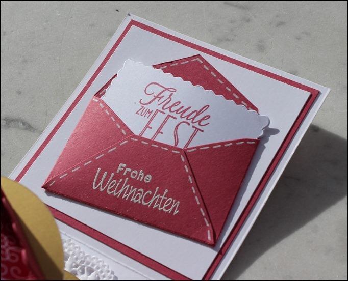 Explosion Box Weihnachten Christmas Gold Glitzer Karussell Stampin Up Zum Nachwuchs Weihnachtsschlitten 08