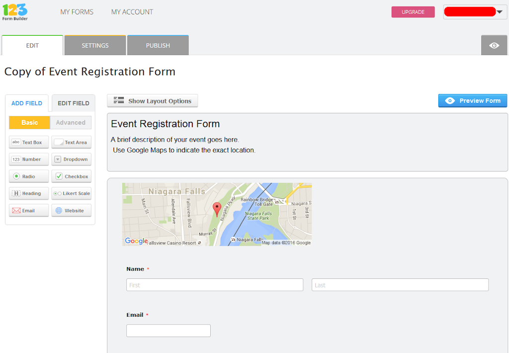 how to create a registration form in wix