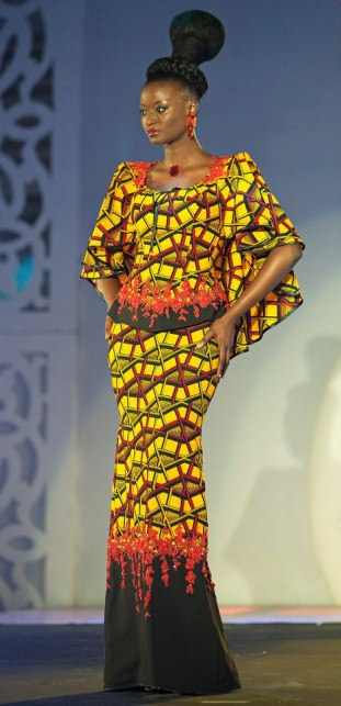 African Print Maxi Dresses 2017 For Women Styles 7