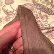 Hidden elastic in a yoga pant-style waist band - snaps back wash afterwash!