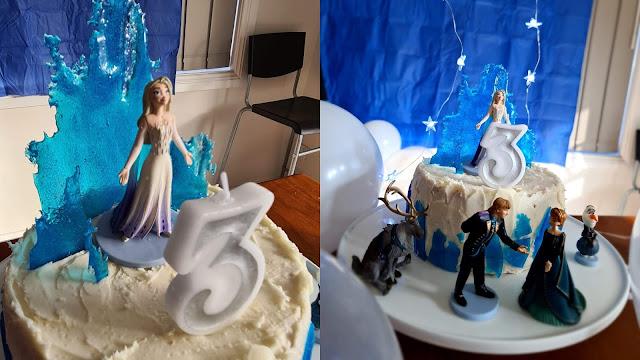Easy DIY Frozen cake with figurines