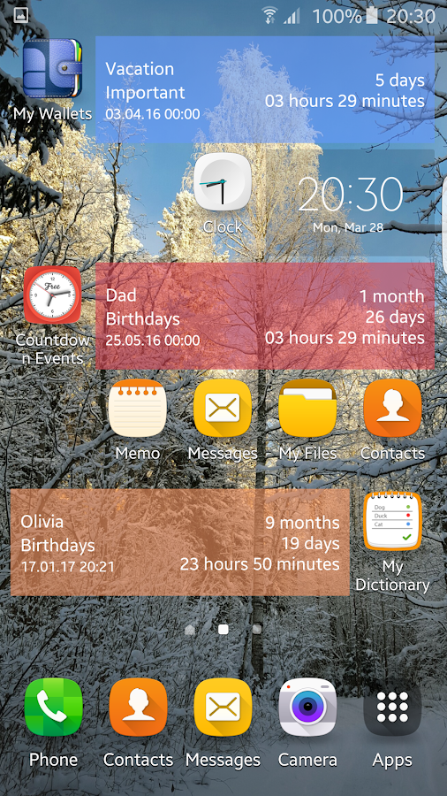 Countdown Calendar - Free- screenshot