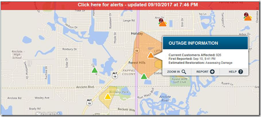 Duke Electric Outage Map