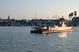 Ferry crossing Newport Harbor.