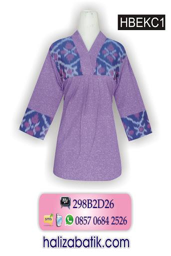 model blus batik, model batik terbaru, batik modern
