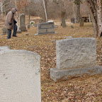 Hilda Barnes searches for a grave Gleaves - Clement Cemetery Hermitage, Tennessee