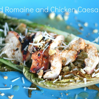 Roasted Romaine and Chicken Caesar Salad