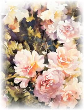 Как акварелью рисуют цветы