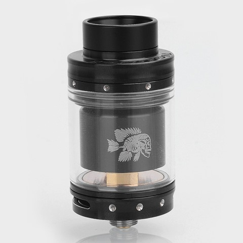 authentic-tigertek-mermaid-rta-rebuildable-tank-atomizer-black-stainless-steel-24mm-diameter