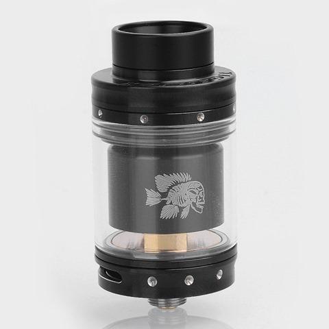 authentic-tigertek-mermaid-rta-rebuildable-tank-atomizer-black-stainless-steel-24mm-diameter