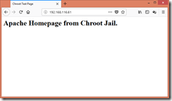 Chrooted HTTP Homepage