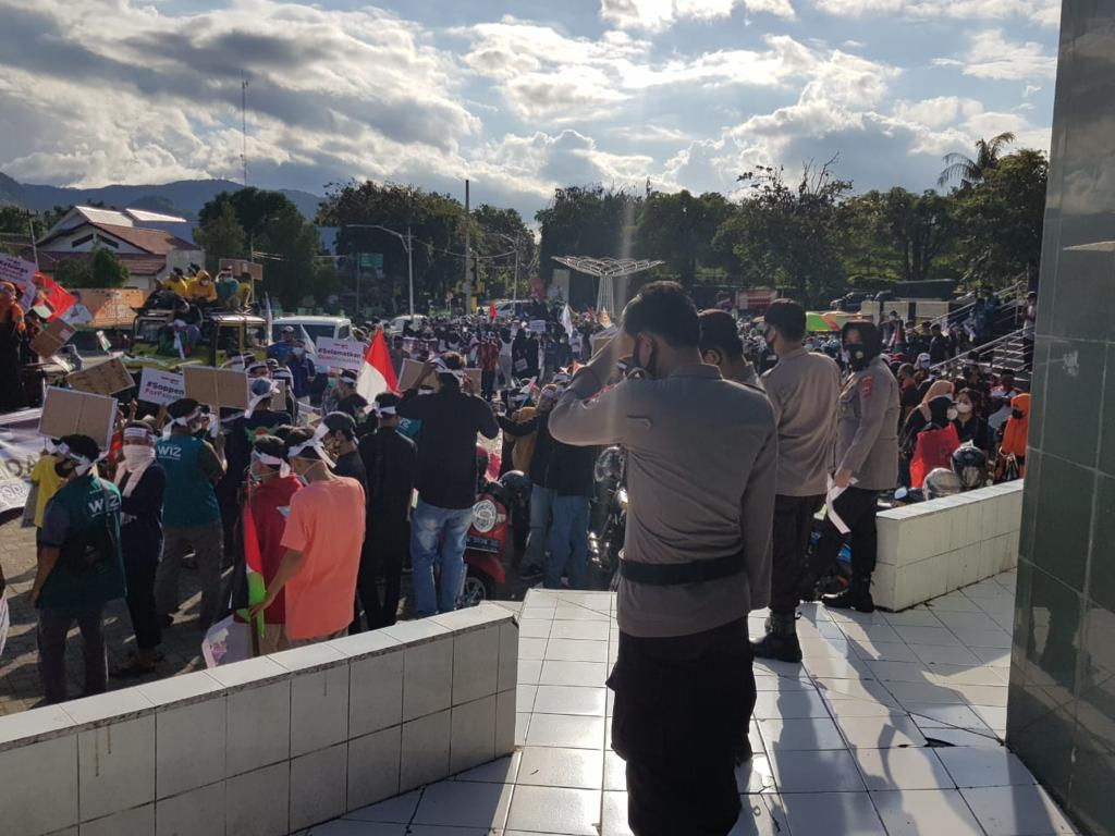 Polres Soppeng Giat Pengamanan Aksi Solidaritas Bela Palestina