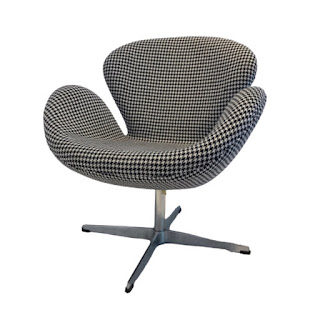 Houndstooth Jacobsen Swan Style Chair