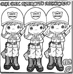Dibujo del 19 de febrero dia del soldado para colorear
