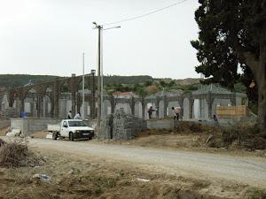 Turks monument in aanbouw