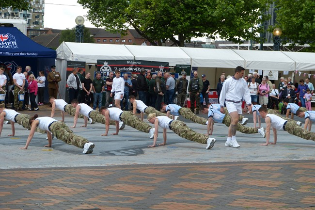Armed Forces Day in Birmingham, Centenary square