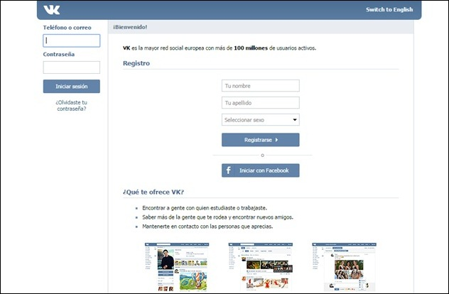 Abrir mi cuenta VK.com