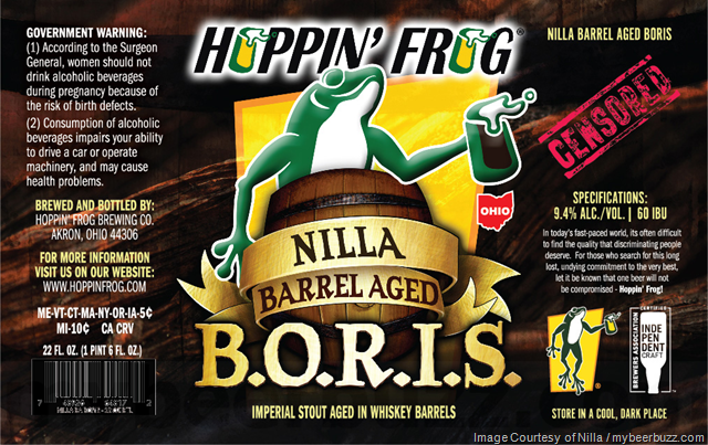 Hoppin' Frog Nilla Barrel Aged B.O.R.I.S.