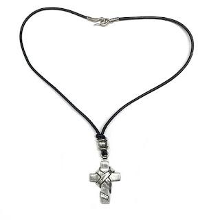 Barry Kieselstein Cord Sterling Silver Cross Necklace