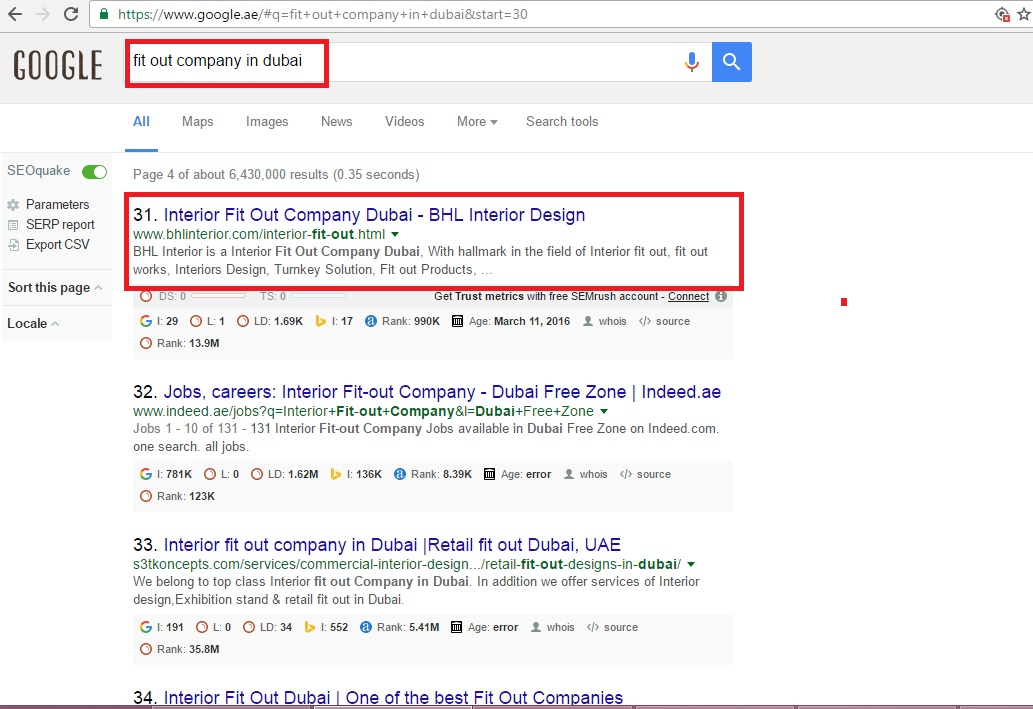 Website Home Page is not Ranking for the Main KEYWORD but