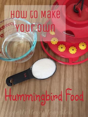 How Do I Make My Own Hummingbird Food