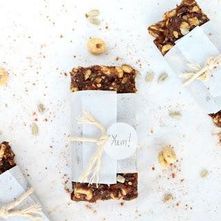 {No-Bake} Honey Nut Pumpkin Spice Bars.