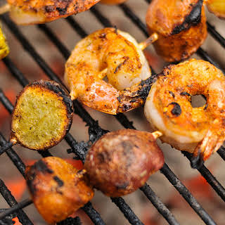 Shrimp Boil Skewers.