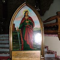 Obraz św. Barbary z KWK Kleofas