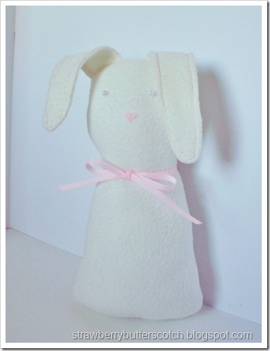 Cute plush bunny for baby.