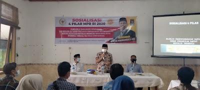 Mahfudz Abdurrahman Laksanakan Sosialisasi 4 Pilar MPR RI Ke Generasi Muda Dan Tokoh Masyarakat