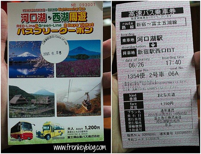 Kawaguchi Saiko Sightseeing Bus Ticket dan Ticket Kawaguchi Station ke Shinjuku