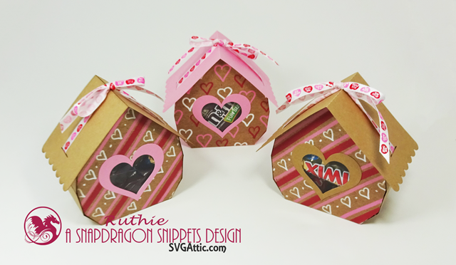 Cottage ribbon-tied 3d gift box - SnapDragon Snippets, San Valentin. Ruthie Lopez  4