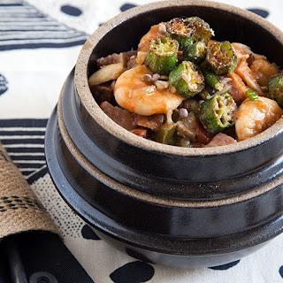 Seafood Sausage Gumbo with Okra