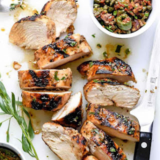 Mediterranean Grilled Balsamic Chicken with Olive Tapenade Recipe