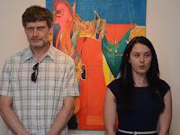01 Balázs Alfréd  festőművész és Tittton Viktória, a Füleki Vármúzeum igazgatója.jpg