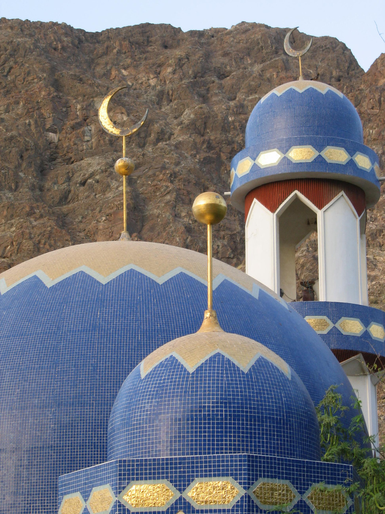 Oman - tiled mosque domes
