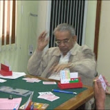 Mr. Gobind Singha, one of the senior most Bridge Players in deep thoughts at the table