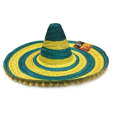 Discount Party Supplies Aussie Green & Gold Sombrero With Pompoms
