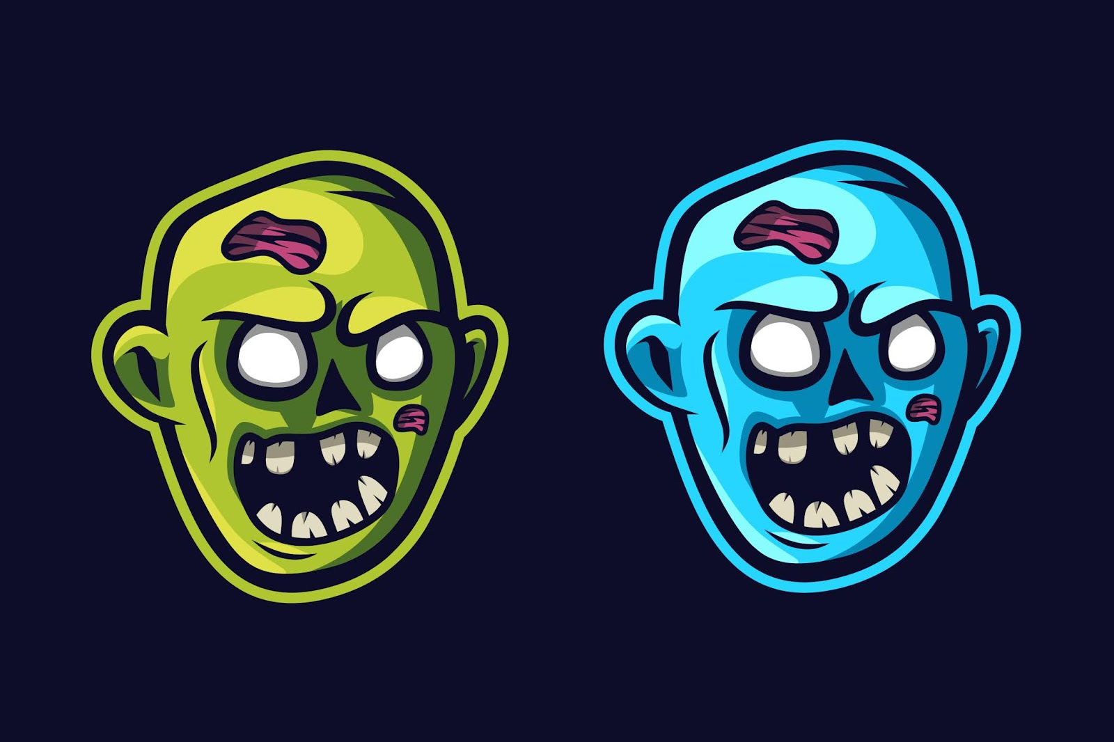 Zombie Face Mascot Logo Free Download Vector CDR, AI, EPS and PNG Formats