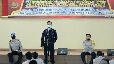 Jelang Libur Nataru, Polda Banten Gelar Latpraops Lilin Kalimaya 2020
