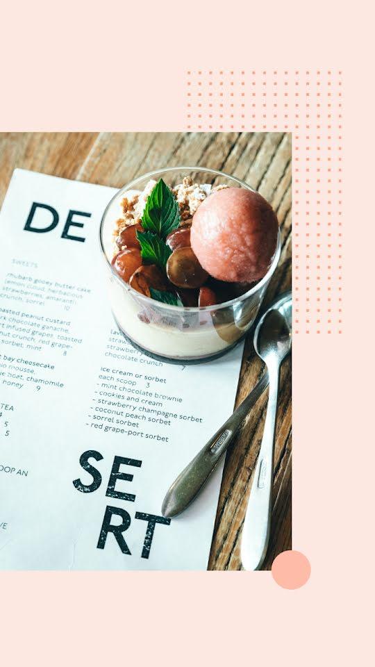 Dessert Menu - Facebook Story Template