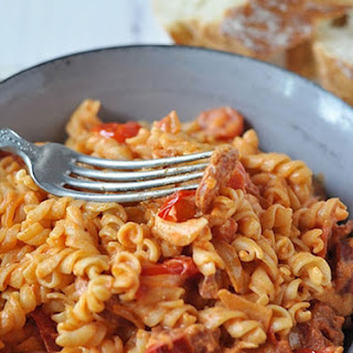 Roasted Chorizo Tomato Pasta