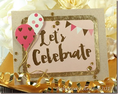 gold foil balloon celebrate